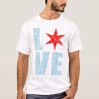 Liebe-Chicago-T-Shirt T-Shirt
