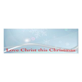 Liebe Christus diese Weihnachtsgeschäfts-Karte Mini-Visitenkarten
