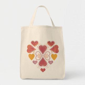 Liebe-Collagen-Lebensmittelgeschäft-Tasche