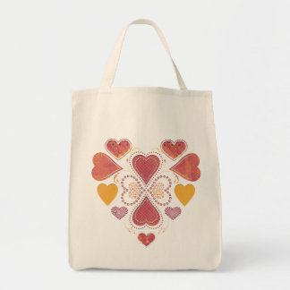 Liebe-Collagen-Lebensmittelgeschäft-Tasche Einkaufstasche