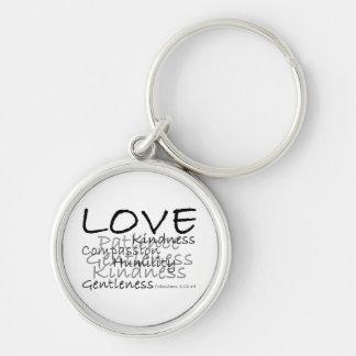 Liebe Colossians 3 Keychain Silberfarbener Runder Schlüsselanhänger