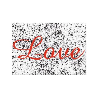 Liebe-dalmatinische Druck-Leinwand Leinwanddruck