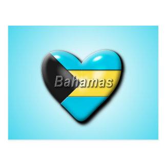Liebe das Bahmas Postkarte