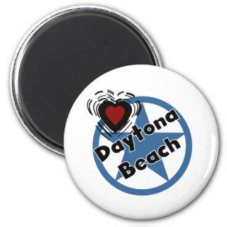 Liebe Daytona Beach Runder Magnet 5,7 Cm