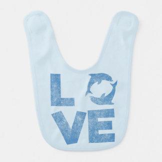 LIEBE Delphin-T - Shirt-Vintager beunruhigter Babylätzchen