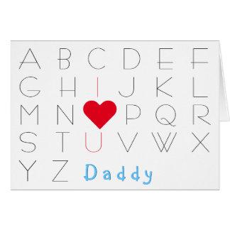 Liebe der Alphabet-I Sie Vati-Vatertags-Geburtstag Karte
