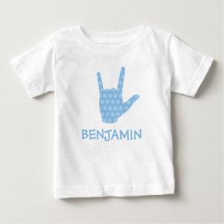 Liebe der ASL-Zeichen-Spracheni punktieren Sie Baby T-shirt