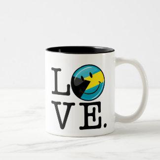 Liebe der Bahamas-Insel-Stolz Zweifarbige Tasse
