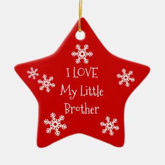 Liebe der Feiertags-Winter-Schneeflocke-I meine Keramik Ornament