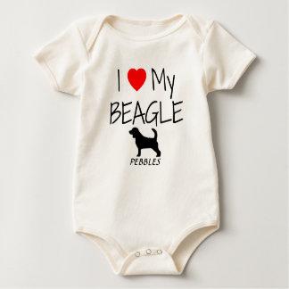 Liebe der Gewohnheits-I mein Beagle Baby Strampler