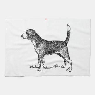 Liebe der Gewohnheits-I mein Beagle-Hund Handtuch