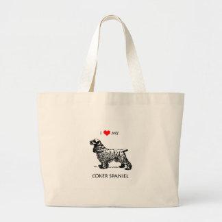 Liebe der Gewohnheits-I mein Cockerspaniel-Hund Jumbo Stoffbeutel