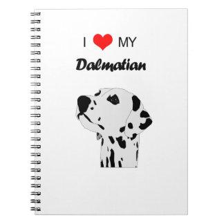 Liebe der Gewohnheits-I mein dalmatinisches Spiral Notizblock