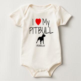 Liebe der Gewohnheits-I mein Pitbull Baby Strampler