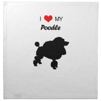 Liebe der Gewohnheits-I mein Pudel-Hund Stoffserviette