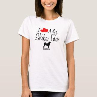 Liebe der Gewohnheits-I mein Shiba Inu T-Shirt