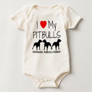 Liebe der Gewohnheits-I meine drei Pitbulls Baby Strampler