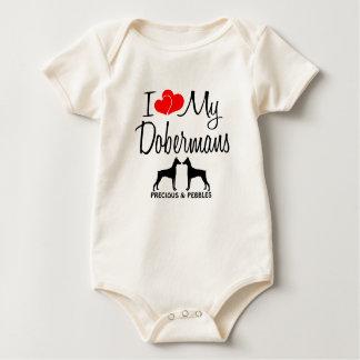 Liebe der Gewohnheits-I meine zwei Dobermann Baby Strampler