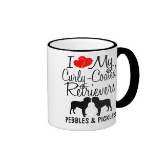 Liebe der Gewohnheits-I meine zwei Gelockt-Überzog Kaffee Haferl