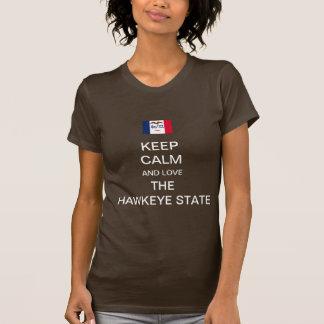 Liebe der hawkeye Staat T-Shirt