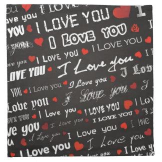 Liebe der Liebe-I Sie Stoffserviette