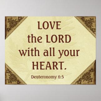 Liebe der Lord - Scripturezitat - Kunstdruck Poster