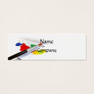 Liebe der Malerei-Geschäfts-Karte (dünn) Mini Visitenkarte
