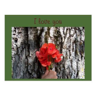 Liebe der Mohnblume I Sie Postkarte