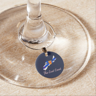 Liebe der Ostküsten-Neuschottland-Weincharme Weinglas Anhänger