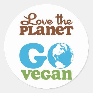 Liebe der Planet gehen vegan