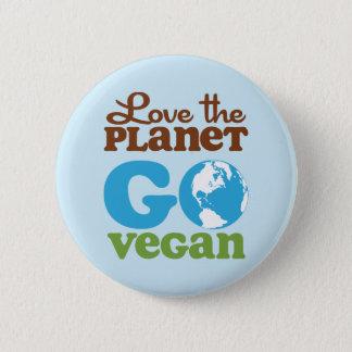 Liebe der Planet gehen vegan Runder Button 5,1 Cm