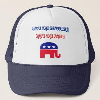 Liebe der Republikaner, hassen das Party Truckerkappe