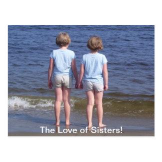 Liebe der schwestern postkarte