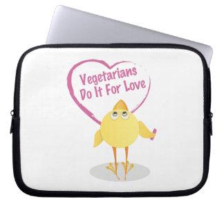 Liebe der Vegetarier-4 Computer Sleeve Schutzhüllen