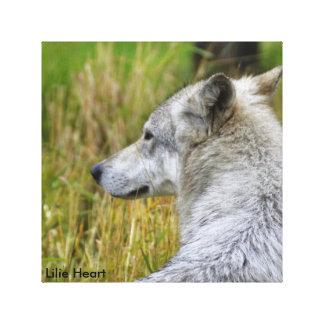 Liebe der Wölfe Leinwanddruck