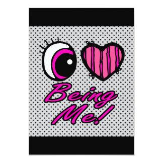 Liebe des Emo Augen-Herz-I, die ich ist 12,7 X 17,8 Cm Einladungskarte
