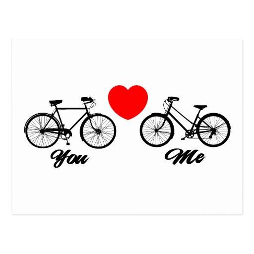 Liebe des Fahrrad-I Sie Postkarte
