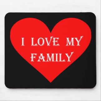 Liebe des Herz-I meine Familie Mauspads