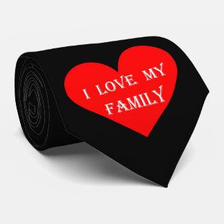 Liebe des Herz-I meine Familie Personalisierte Krawatte