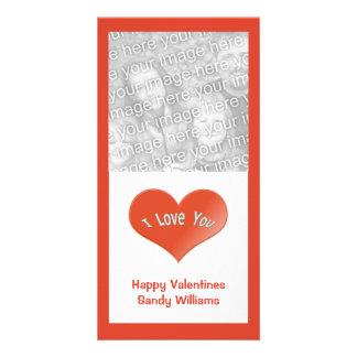 Liebe des Rotes I Sie Herz Personalisierte Foto Karte