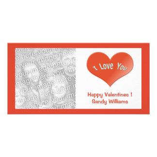 Liebe des Rotes I Sie Herz Individuelle Photo Karte