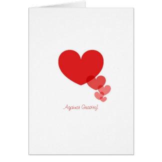 Liebe des Valentines Tagesgegen Schwerkraft-Karten Karte