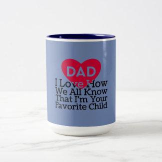 Liebe des Vati-I, wie alle wir wissen, dass ich Zweifarbige Tasse