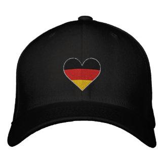 """Liebe-Deutschland""""Herz-Flaggen-"""" gestickte Kappe"""