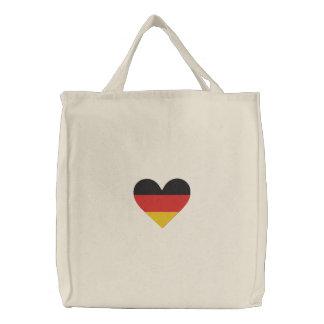Liebe-Deutschland Herz-Flaggen- gestickte Tasche