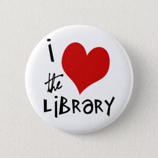 Liebe die Bibliothek Runder Button 5,1 Cm