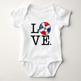 Liebe die Dominikanische Republik-lächelnde Flagge Baby Strampler