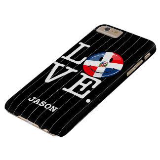 Liebe die Dominikanische Republik-lächelnde Flagge Barely There iPhone 6 Plus Hülle