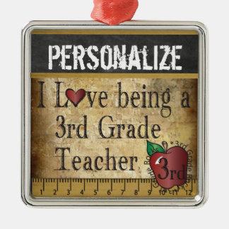 Liebe, die ein 3. Grad-Lehrer | Vintag ist Silbernes Ornament