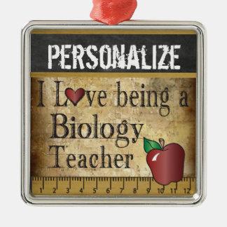Liebe, die ein Biologie-Lehrer | Vintag ist Silbernes Ornament